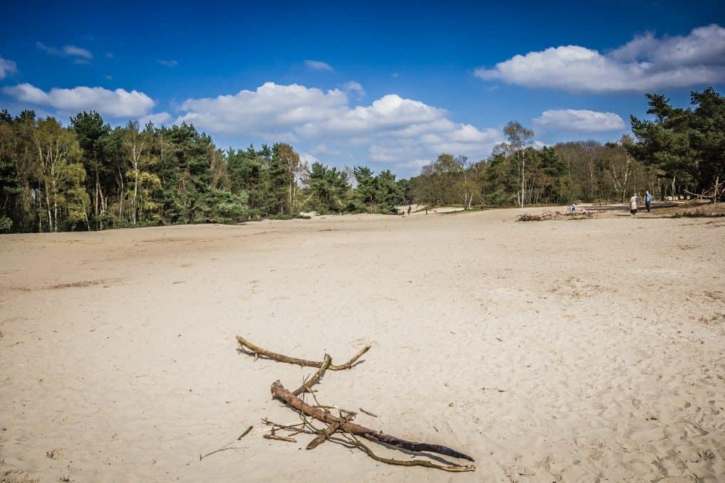 Foto van de zandverstuiving in Rosmalen